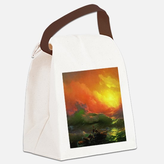 Ivan Aivazovsky The Ninth Wave Canvas Lunch Bag