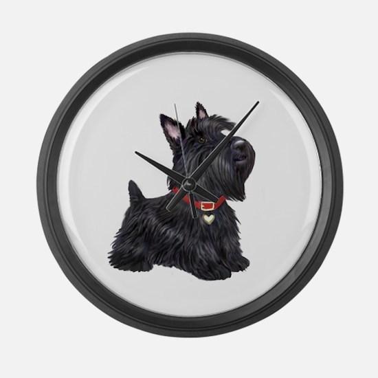 Scottish Terrier #2 Large Wall Clock