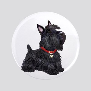 "Scottish Terrier #2 3.5"" Button"