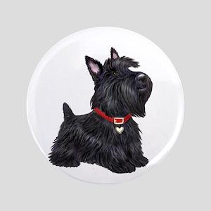 """Scottish Terrier #2 3.5"""" Button"""
