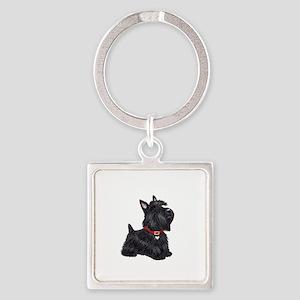 Scottish Terrier #2 Square Keychain