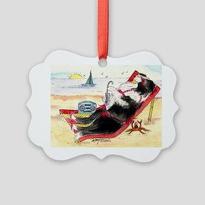 Border Collie Picture Ornament