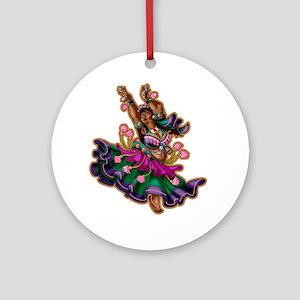 Big-n-Beautiful Tribal Bellydancer! Round Ornament