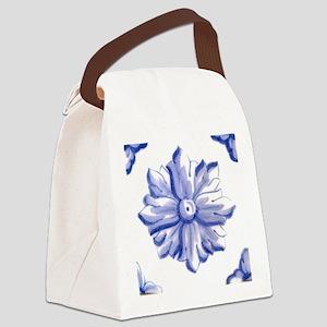 DELFT FLOWER TILE Canvas Lunch Bag