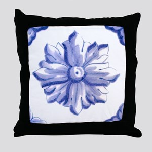 DELFT FLOWER TILE Throw Pillow