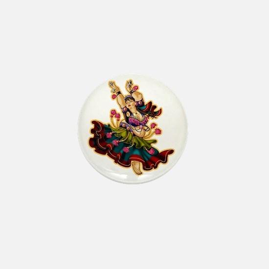 Big-n-Beautiful Tribal Bellydancer!  B Mini Button