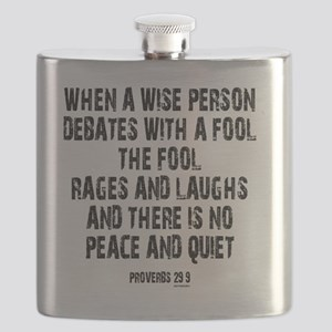 Proverbs 29 9 Flask
