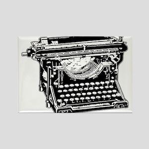 Old Fashioned Typewriter Rectangle Magnet