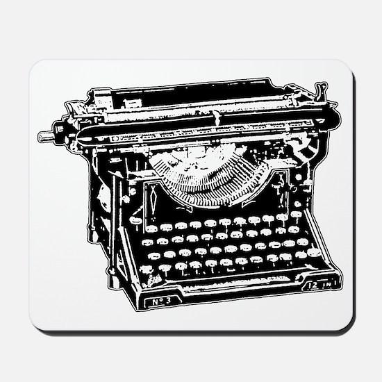 Old Fashioned Typewriter Mousepad