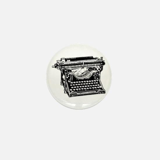 Old Fashioned Typewriter Mini Button