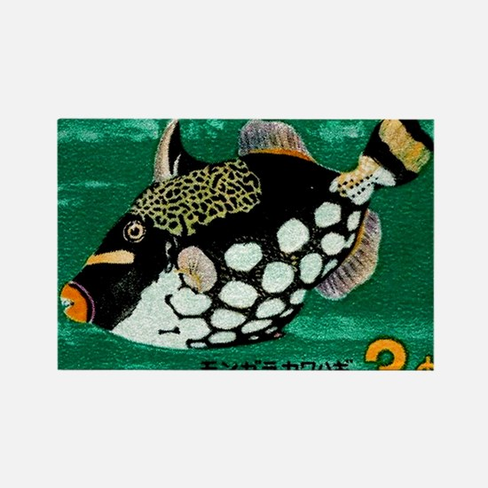 1967 Ryukyu Islands Triggerfish P Rectangle Magnet