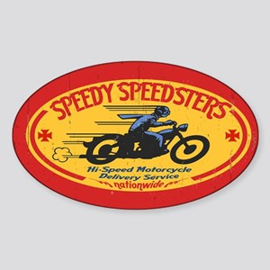 speedsters2-OV_CAP Sticker (Oval)