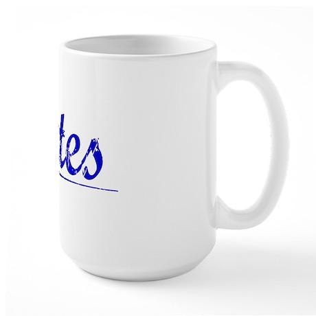 Dates, Blue, Aged Large Mug