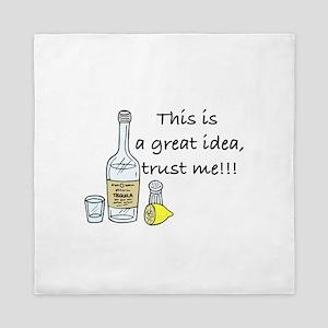 great idea tequila Queen Duvet
