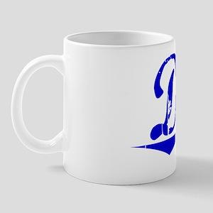 Diez, Blue, Aged Mug
