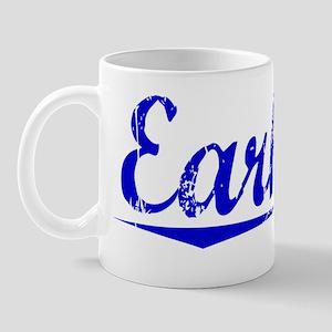 Earhart, Blue, Aged Mug