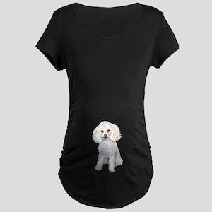 Poodle - Min (W) Maternity Dark T-Shirt