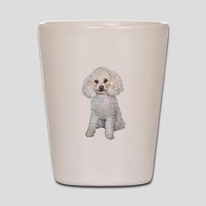 Poodle - Min (W) Shot Glass