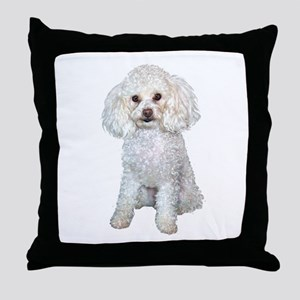 Poodle - Min (W) Throw Pillow