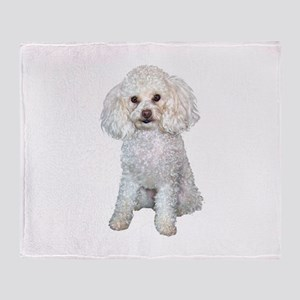 Poodle - Min (W) Throw Blanket