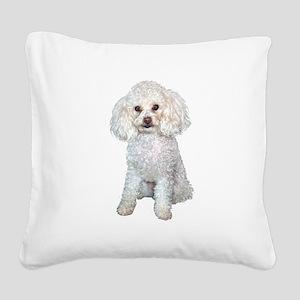 Poodle - Min (W) Square Canvas Pillow