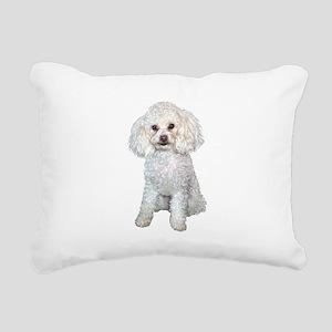 Poodle - Min (W) Rectangular Canvas Pillow