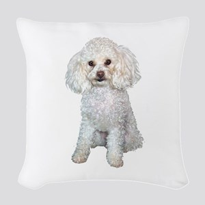 Poodle - Min (W) Woven Throw Pillow