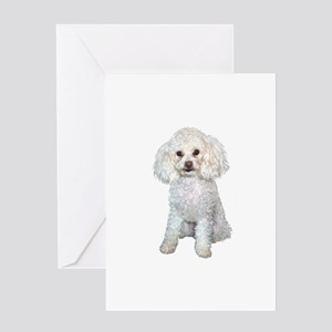 Poodle - Min (W) Greeting Card
