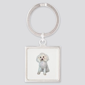 Poodle - Min (W) Square Keychain