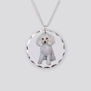 Poodle - Min (W) Necklace Circle Charm