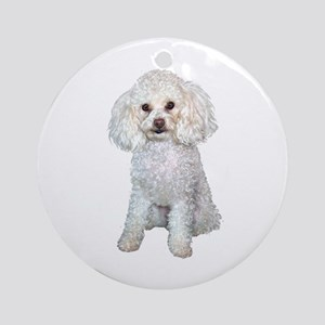 Poodle - Min (W) Ornament (Round) Ornament (Round)