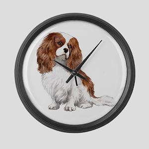 Cavalier (blenheim2) Large Wall Clock