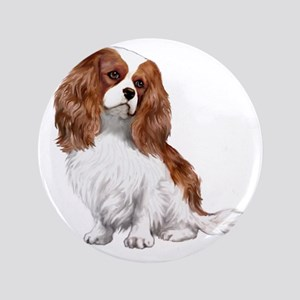 "Cavalier (blenheim2) 3.5"" Button"