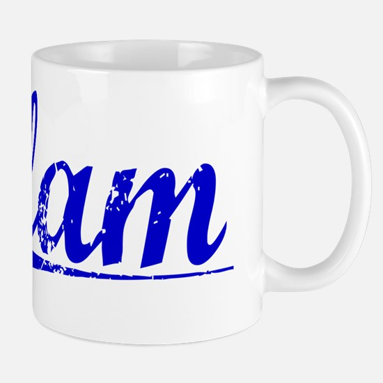 Elam, Blue, Aged Mug