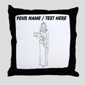 Custom Prom Queen Throw Pillow
