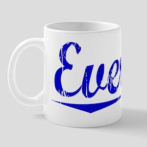 Everton, Blue, Aged Mug