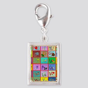 alphabet soup creations Silver Portrait Charm