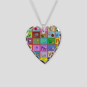 alphabet soup creations Necklace Heart Charm