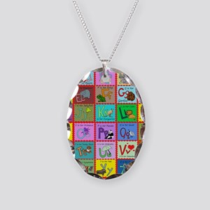 alphabet soup creations Necklace Oval Charm