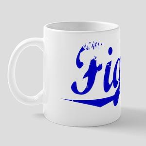 Figaro, Blue, Aged Mug