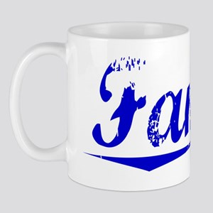 Fannin, Blue, Aged Mug