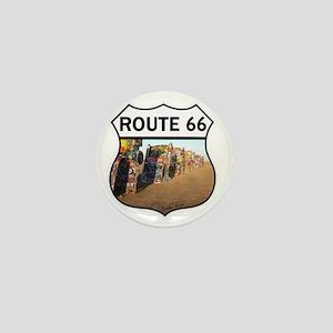 Route 66 - Cadillac Ranch Mini Button
