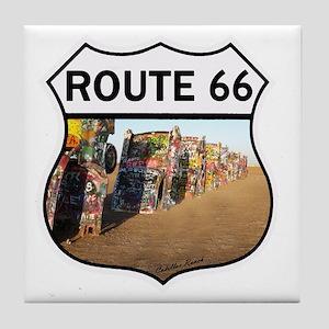 Route 66 - Cadillac Ranch Tile Coaster