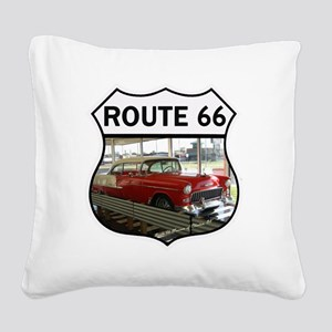 Route 66 Museum - Clinton, OK Square Canvas Pillow