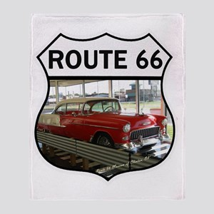 Route 66 Museum - Clinton, OK Throw Blanket
