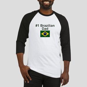 #1 Brazilian Dad Baseball Jersey