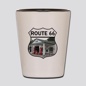 Route 66 - Amblers Texaco Gas Station - Shot Glass