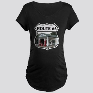 Route 66 - Amblers Texaco G Maternity Dark T-Shirt