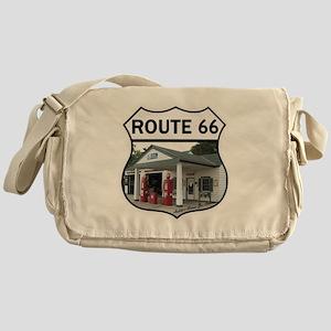 Route 66 - Amblers Texaco Gas Statio Messenger Bag