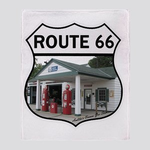 Route 66 - Amblers Texaco Gas Statio Throw Blanket
